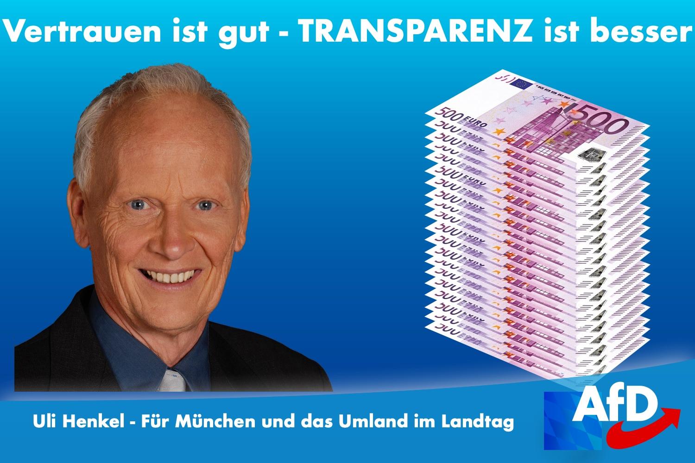Uli Henkel und Transparenz